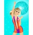 Fashion disco girl vector image