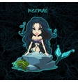 Card with the mermaid and space for text vector image