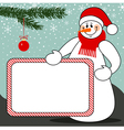snowman billboard vector image