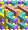 Colorful 3D cubes vector image