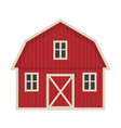 farm building icon flat style isolated on white vector image
