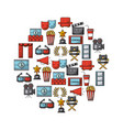 icons set movies and cinema vector image