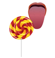 language and Lollipop vector image