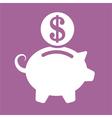 piggy money vector image