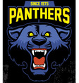 retro panther mascot design vector image