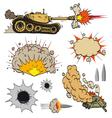 Set of tanks vector image