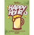 Happy Hour Poster For Advertising Beer Mug vector image