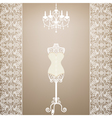 mannequin and chandelier vector image vector image