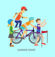 summer sport concept in flat design vector image
