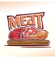 logo raw meat vector image