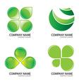 Green logo2jpg vector image vector image
