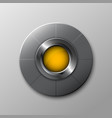 metallic circle button vector image vector image