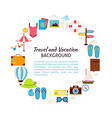 Flat Style Circle Template Collection of Summer vector image vector image