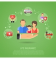 Life Insurance Concept vector image