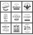 Set of vintage motivation typographic quotes vector image