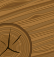 Cartoon woodgrain and wood rings vector image