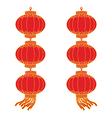 chinese lantern garland vector image