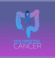 colorectal cancer icon design vector image