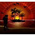 couples on beach vector image