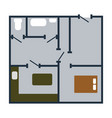 icon of apartment plan vector image