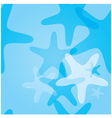 seamless pattern marine starfish vector image