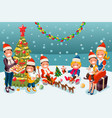 winter christmas party night vector image