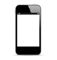 Black smartphone vector image