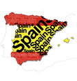 Map of Spain 1 vector image
