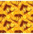 Tropical Palms Silhouettes Seamless vector image vector image