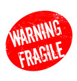 warning fragile rubber stamp vector image vector image