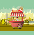 street food with popcorn vector image