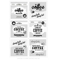 Set of Retro Vintage Coffee Label Backgrounds vector image