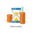 compound interest time is money pension fund vector image vector image