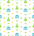Seamless Pattern with Bank Institution Bank Notes vector image vector image