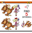 task of finding differences vector image