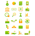Green yellow finance icons set vector image vector image