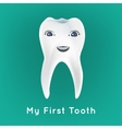 First tooth vector image