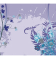 grunge background with floral vector image vector image