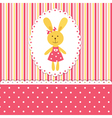 Background with rabbit girl vector image