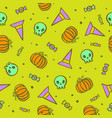bright and funny halloween seamless pattern vector image