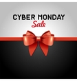Cyber Monday Sale design poster with Ribbon and vector image