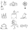 Element Halloween and monster in doodle vector image