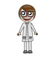 female nerd avatar character vector image