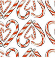 hand drawn abstract christmas seamless vector image