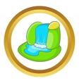 Mountain waterfall icon vector image