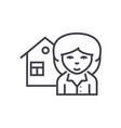 realtor line icon sign on vector image