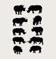 Rhinoceros Silhouettes vector image