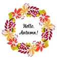 round frame of autumn leaves and berries vector image