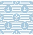 Seamless nautical pattern with turtles and anchors vector image