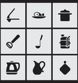 set of 9 editable food icons includes symbols vector image